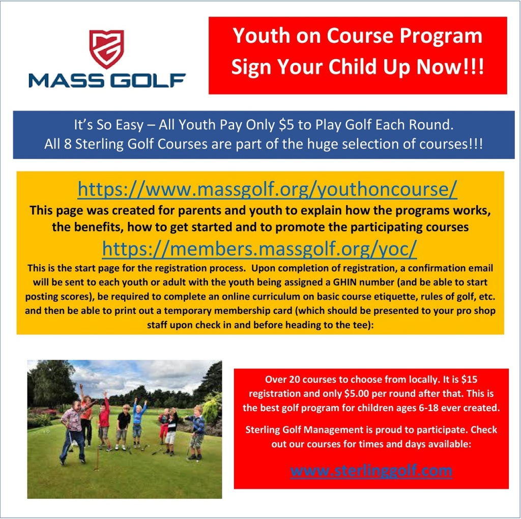 Youth On Course Norwood Country Club